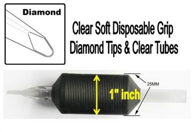 Diamond Clear Tube Silicone Disposable Grip Image